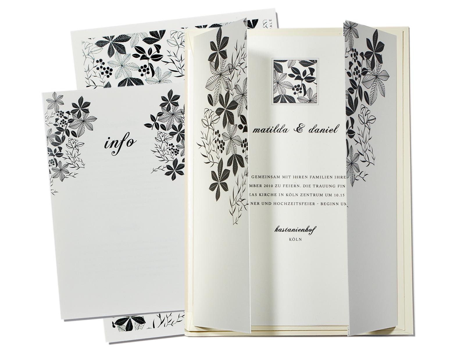 Hochzeitskarten Einladung Danksagung Buttenpapier