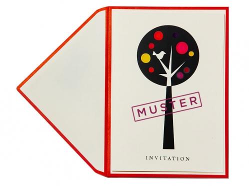 Fühlen Sie die exklusive Einladungskarte mit der Bestellung einer Musterkarte.