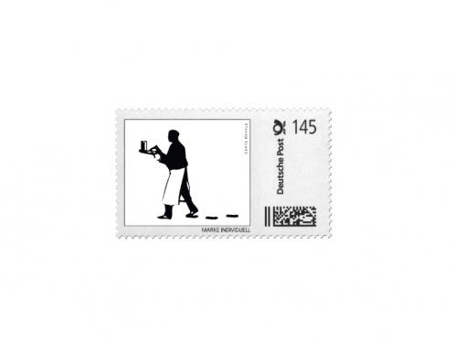 Gestaltungsvorlage für Ihre Briefmarke passend zur Einladungskarte.