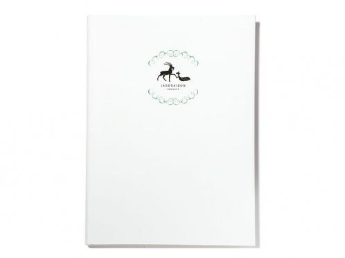 Gästebuch mit personalisiertem Einband.