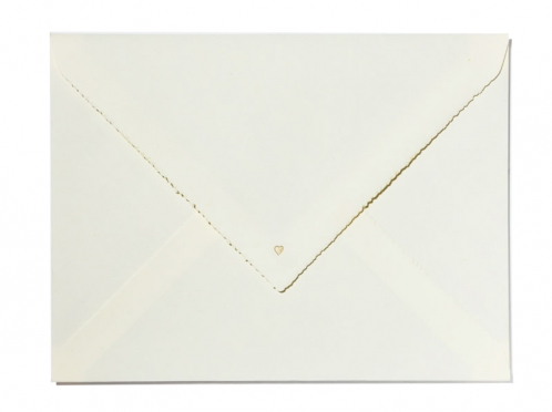 Einladungen gedruckt auf Büttenpapier mit gold geprägter Libelle.
