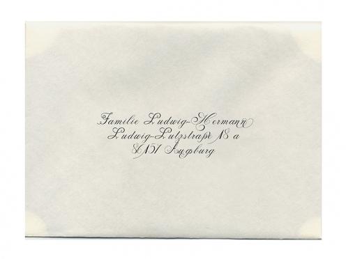 Bedruckter Briefumschlag passend zur Einladungskarte.