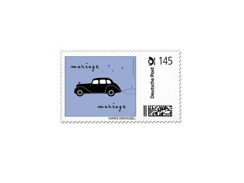 Design und Vorlage Ihrer persönlichen Briefmarke.