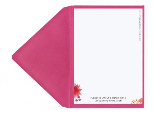 Save-the-Date Karte mit gedruckten Beeren und Blumen inkl. Briefumschlag.