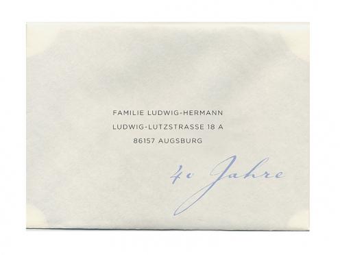 Druck der Gästeanschriften auf dem Briefumschlag.