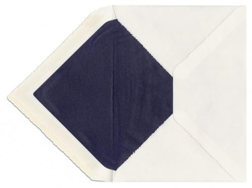 Büttenumschlag blau