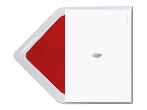In Aquarell gemalter Weihnachtsmann mit langem weißen Bart und roter Mütze. Druck auf Feinstpapier inklusive rot gefütterten Umschlag.