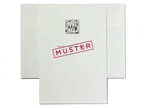 Einladungskarte als Musterkarte aus der Castello Hochzeitspapeterie-Serie.