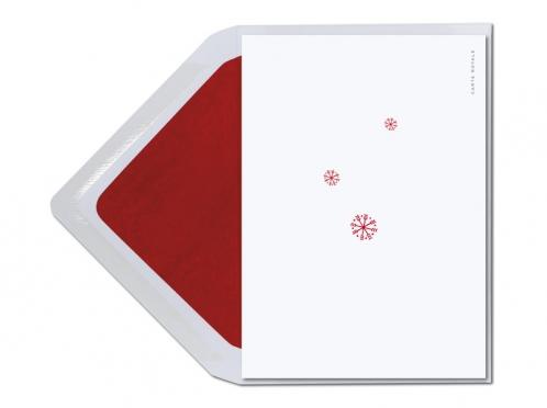 Wärmende Weihnachtskarte mit gemalten Strickhandschuhe. Erinnert irgendwie an die erste Eislaufzeit. Toll!