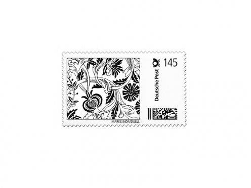 Briefmarken-Designvorlage als jpeg aus der Papeterie-Serie Castello.
