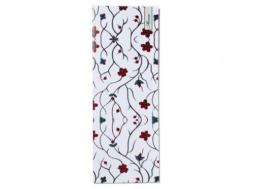 Dekorative Menükarten passend zu den Tischkarten mit floralem Muster.