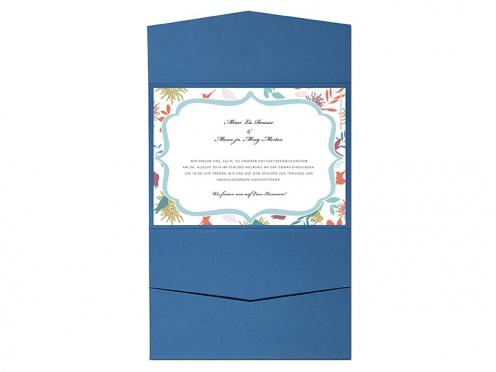 Pocketfold Umschlag mit integrierter Einladungskarte.