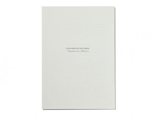 Programmheft im A5 Format passend zum Design der Einladungskarte.