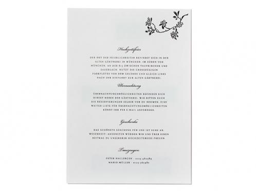 Hochzeitsprogramm für den Ablauf Ihrer Hochzeit: Übernachtung & Geschenke...