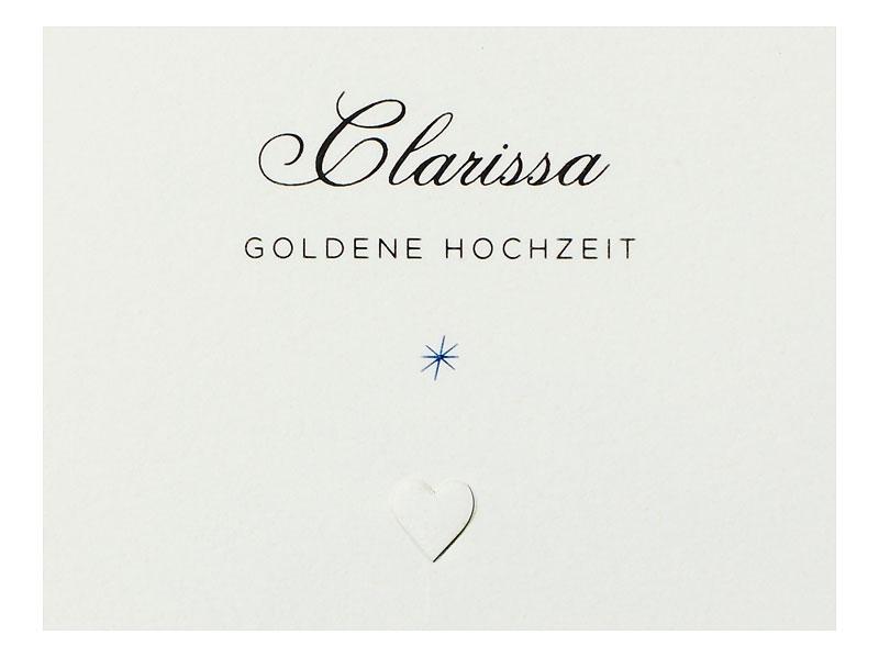 Tischkarte Und Menükarte Goldene Hochzeit