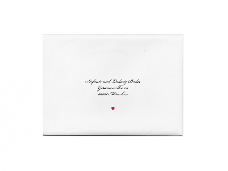 Passend zur Darling Hochzeitspapeterie: Druck Anschrift und/oder Absender