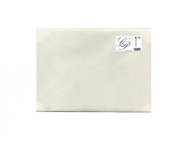Gestaltung einer Vorlage für eine individuelle Briefmarke.