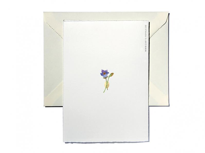 Osterkarten gedruckt auf Büttenpapier, in Aquarell gemalt und mit einem goldenen Herz veredelt.