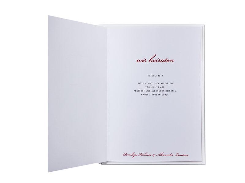 Hochzeitskarten Hochzeitspapeterie Klassisch