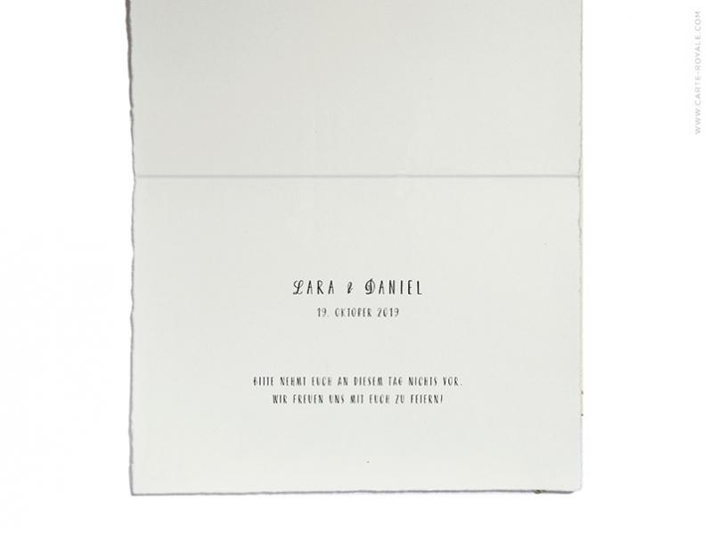 Save-the-Date Hochzeitskarte aus der Hochzeitspapeterie Serie